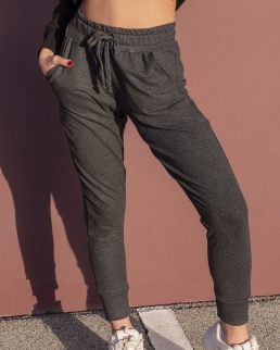Pantalone donna in felpa stretch french terry sport fit