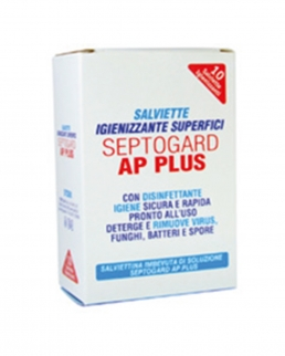Confezione da 10 Septoguard ap plus salvietta igienizzante Superfici