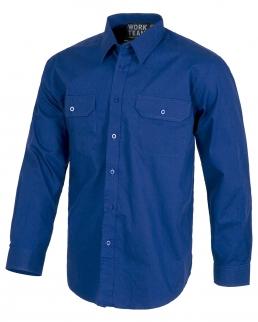 Camicia da lavoro maniche lunghe con 2 taschini
