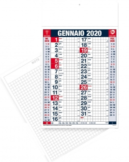 Calendario olandese quadretti