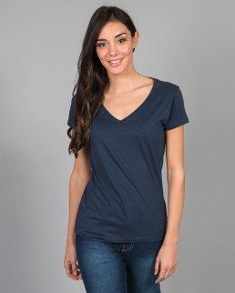 T-shirt girocollo slubby Antigua lady