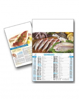 Calendario Pesce Crudo Trimensile 12 fogli