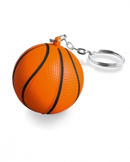 Portachiavi antistress a forma di palla da basket