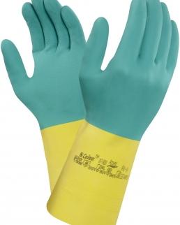 Guanti rischio chimico con interno in cotone