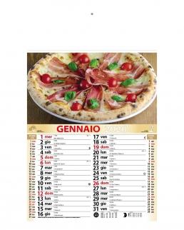Calendario Pizza 12 fogli