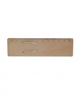 Righello segnalibro in legno