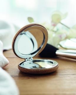 Specchietto doppio con cover in sughero