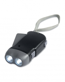 Torcia dinamo in ABS con 2 LED