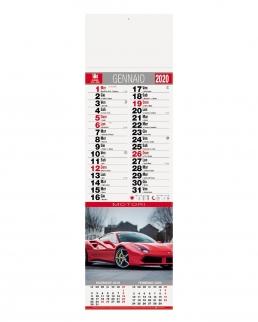 Calendario silhouette Auto 12 fogli