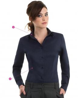 Camicia donna maniche lunghe Sharp Twill