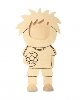 Cornice a forma di calciatore