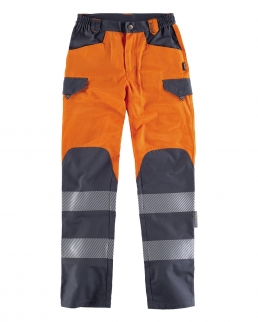 Pantalone alta visibilità con bande riflettenti segmentate