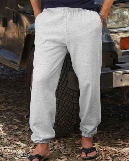 Pantaloni felpati con elastico alla caviglia