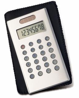 Calcolatrice verticale in alluminio