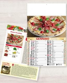 Calendario olandese illustrato Pizza