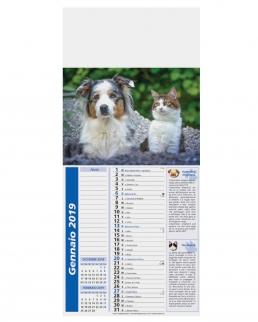 Calendario Mignon Cani e Gatti 12 fogli