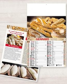 Calendario olandese illustrato Pane