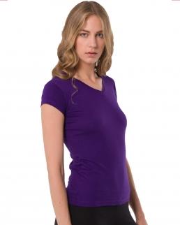 T-shirt regular lady v-neck