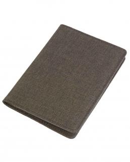 Porta passaporto in tessuto mélange