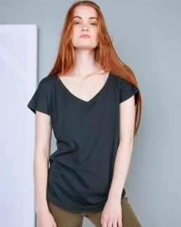 Women's Loose Fit V Neck T