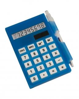Calcolatrice con bloc notes e penna