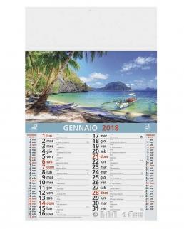 Calendario olandese illustrato Paesaggi Tropicali