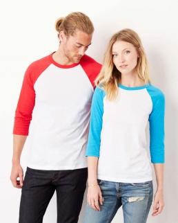 T-shirt unisex maniche 3/4