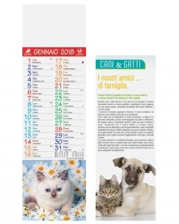 Calendario silhouette Cani e Gatti 12 fogli
