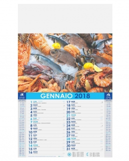 Calendario Pesce 12 fogli