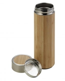 Thermos con rivestimento in bamboo 420 ml