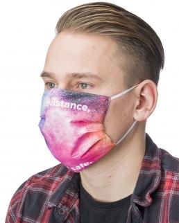 Maschera riutilizzabile con stampa fotografica all-over