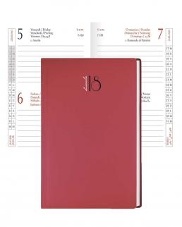 Agenda bigiornaliera tascabile Gommato 7 x 10