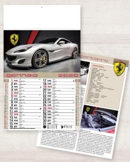 Calendario olandese illustrato Auto Sportive