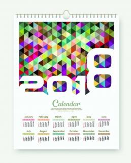 Calendario da parete con spirale 8 Fogli cm 29.7x42