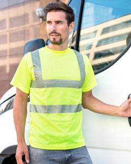 T-Shirt ad alta visibilità con fasce riflettenti segmentate
