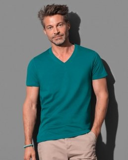 T-shirts James scollo a V Cotone organico