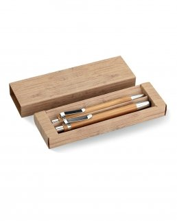 Set penna e matita in bambu