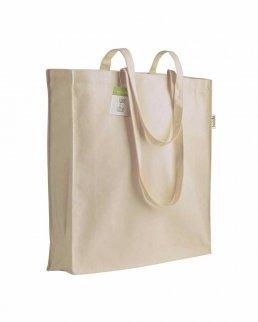 Shopper in cotone organico con soffietto da 150 gr