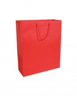 Shopper con soffietto in carta laminata