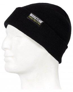 Cappello in maglia con risvolto inferiore