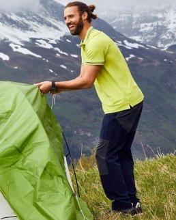 Pantaloni uomo da trekking in tessuto leggero