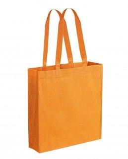 Borsa shopper TNT cucita con soffietto manici lunghi