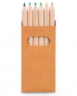 Scatola con 6 matite colorate