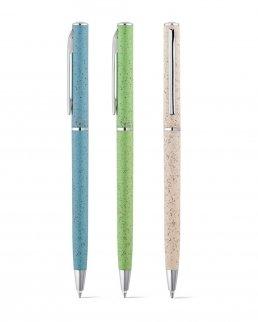 Penna a sfera in fibra di grano e ABS e clip in metallo