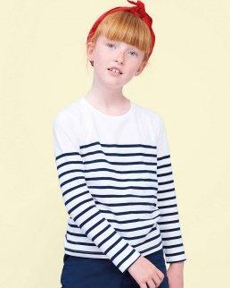 T-shirt bambino manica lunga rigata Matelot