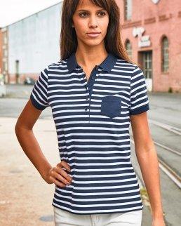 Polo donna Striped