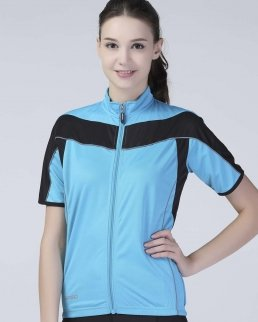 T-shirt donna Bike con zip intera