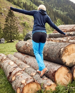 Pantaloni donna da trekking in tessuto leggero