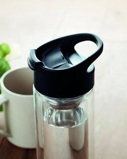 Bottiglia 380 ml in vetro borosilicato doppio strato