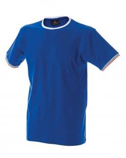 T-shirt manica corta girocollo tricolore sule maniche Udine